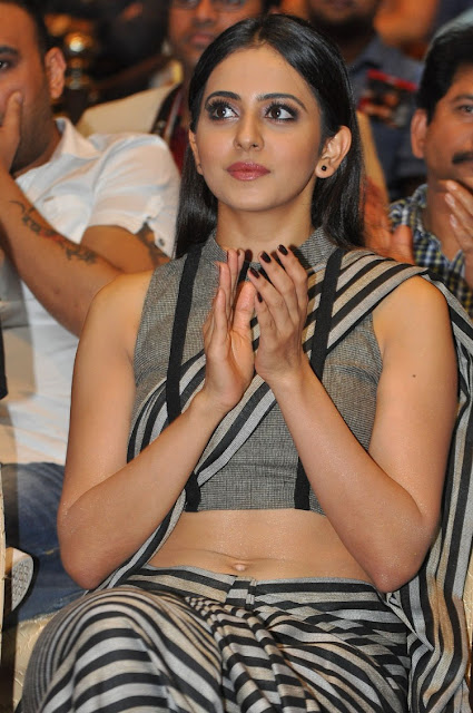 Rakul Preet Singh Hot at Abhinetri Movie Audio Launch HD Stills