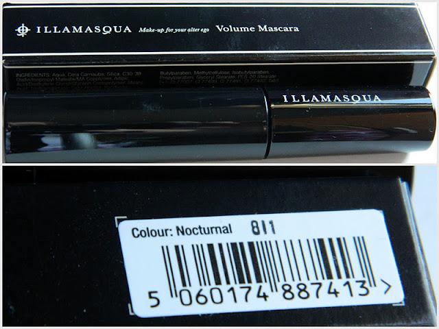blog review of Illamasqua volume mascara in Nocturnal brown