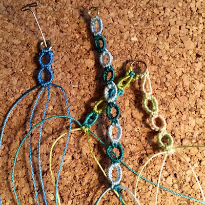 Macrame chains trial & error.