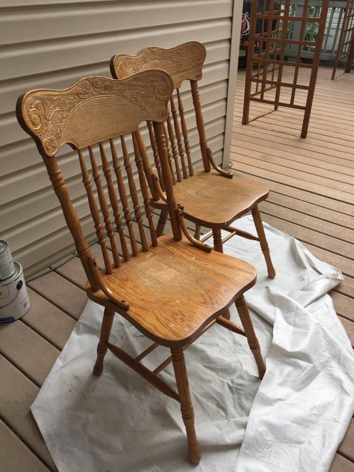 Before: Pressed back chairs