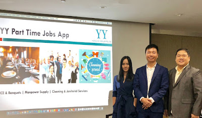 Source: YY Hong Ye Group. From left: Wendy Wang, IT Project Manager of YY Hong Ye Group, Mike Fu CEO of YY Hong Ye Group, and Chris Ho, Marketing Manager of YY Hong Ye Group.