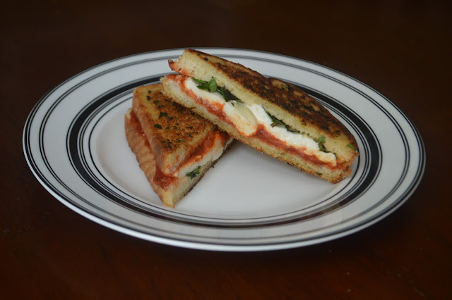 Marghertia Pizza Grilled Cheese