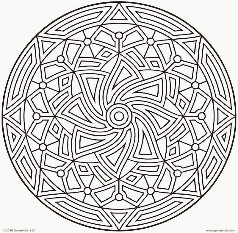 Free printable geometric coloring pages for Simple geometric designs coloring pages