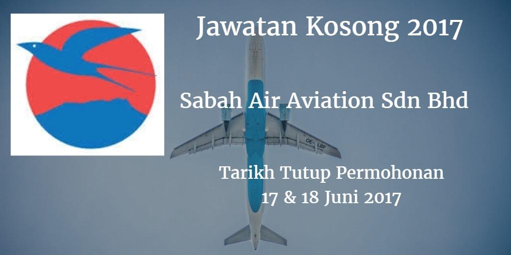 Jawatan Kosong Sabah Air Aviation Sdn Bhd 17 & 18 Juni 2017