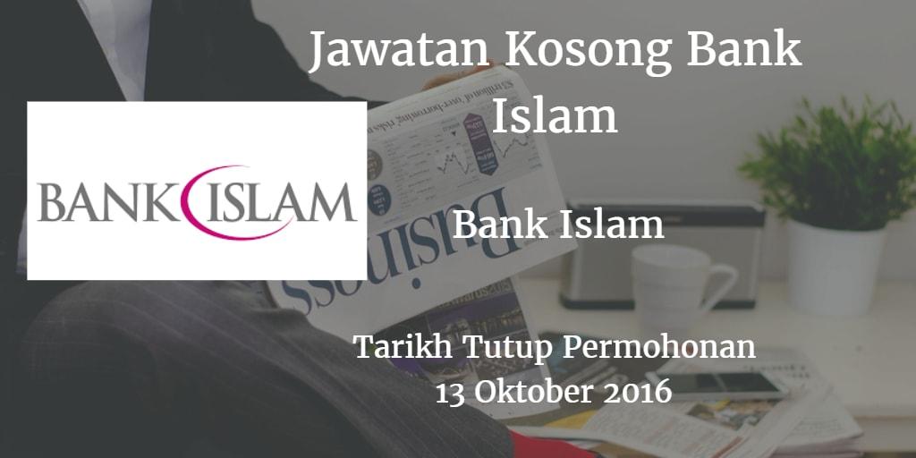 Jawatan Kosong Bank Islam 13 Oktober 2016
