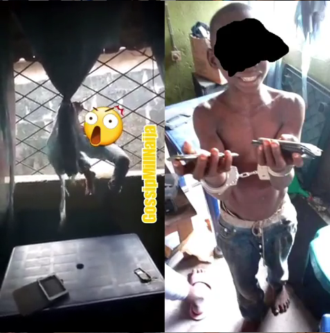 Teenage Boy Who Sneaked Into A House And Stole Valuables Replays How He Broke In