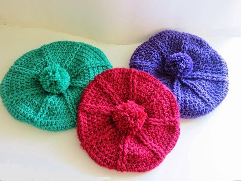 Crochet Hat Pattern Beret : Crochet Dreamz: Brittney Beret Crochet Pattern, 3 Months ...