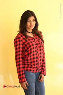Actress Hebah Patel Stills in Blue Denim Jeans at Nanna Nenu Naa Boyfriends Movie Success Meet  0079.JPG