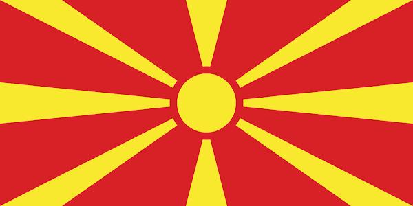 Logo Gambar Bendera Negara Makedonia Utara PNG JPG ukuran 600 px