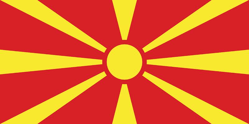 Logo Gambar Bendera Negara Makedonia Utara PNG JPG ukuran 800 px