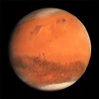 Mars gezegeninin bir görüntüsü