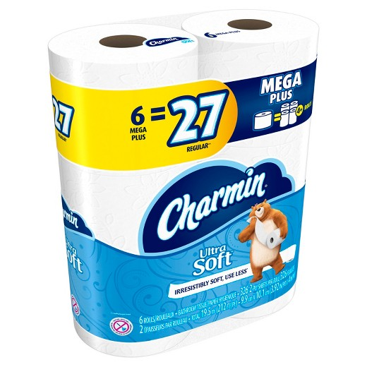 Charmin Toilet Paper On Sale: Target: Charmin Mega Plus Bath Tissue Only $6.49