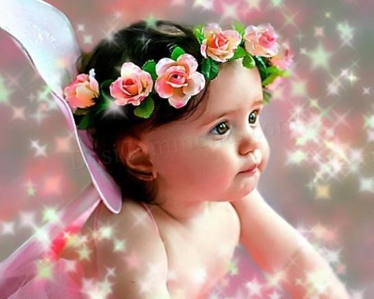 The Funny Baby Wallpaper Babies With Flowers Wallpapers