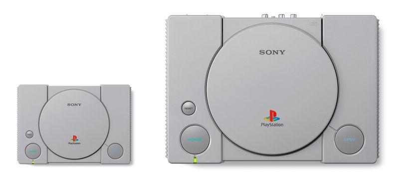 PlayStation Classic 45 por ciento mas pequena