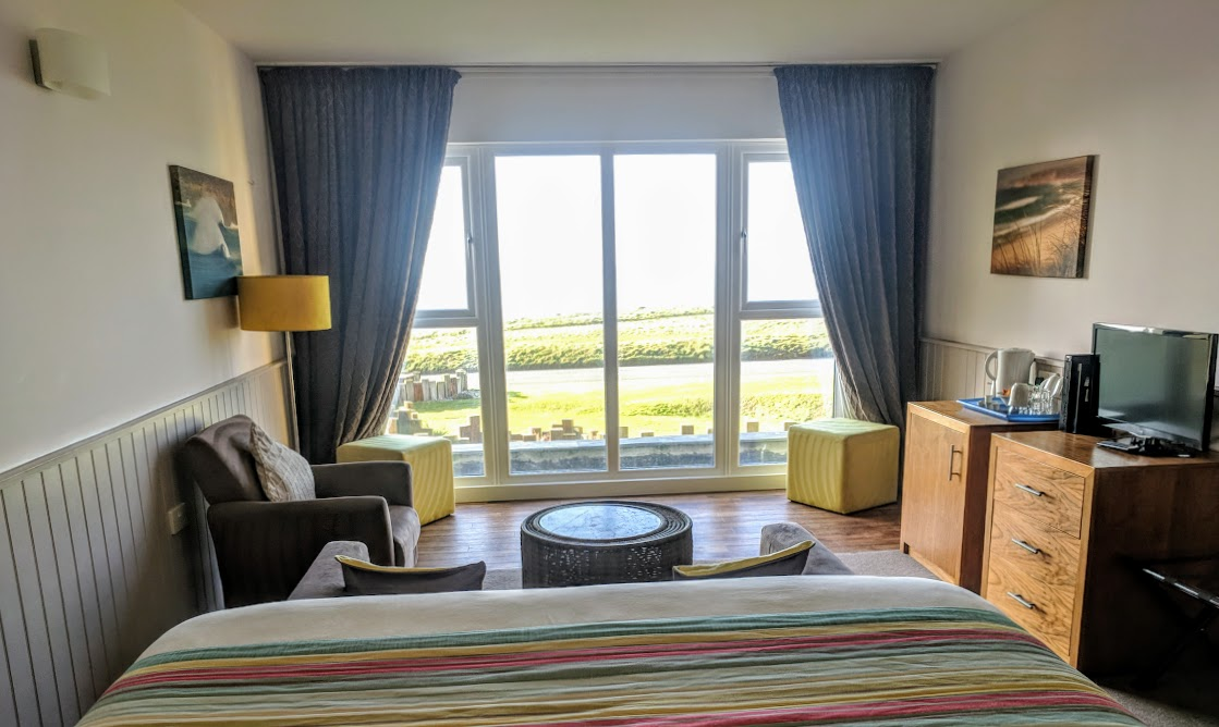 The Sands Resort Cornwall Review | A Family Hotel with Kids Club near Newquay  - view from contemporary sea view suite