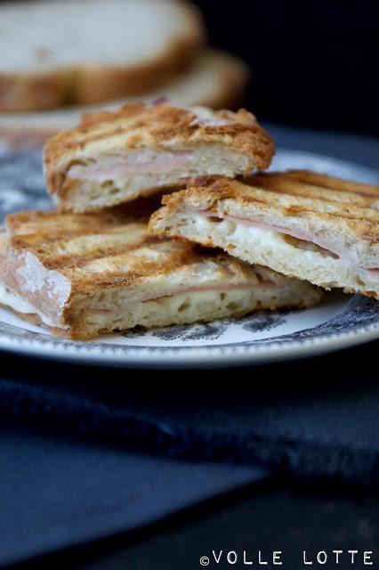 Pao Alentejano, Portugal, portugiesische Küche, Kontaktgrill, Sandwich, Käse-Schinken-Toast, einfach, lecker