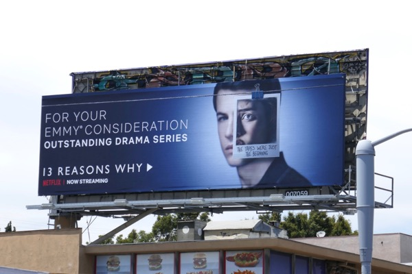 13 Reasons Why season 2 Emmy FYC billboard