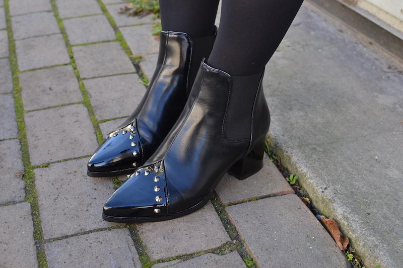 bottines noir à clou dresslily