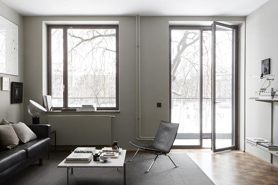 AMM blog: An apartment in teak and grey, Eastmansvgen 8B