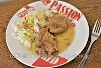 Μοσχαράκι νουά λεμονάτο με μουστάρδα, μαυροδάφνη και χρωματιστό ρύζι  - by https://syntages-faghtwn.blogspot.gr