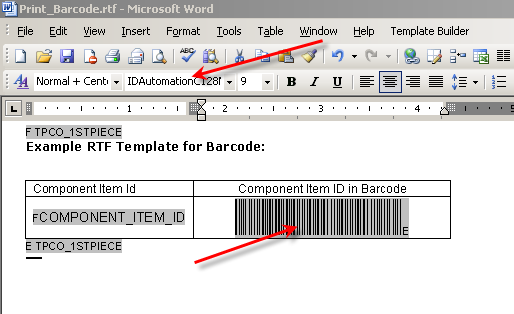 how to create rtf template for xml publisher - printing bar code in oracle reports and xml publisher