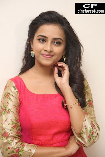 Sri Divya in Red Dress Hot Photos