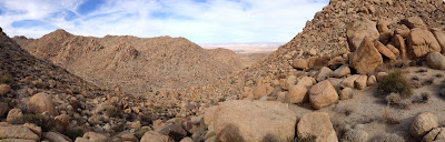 View northwest from near the west flank of Mount Mel, Indian Cove, Joshua Tree National Park