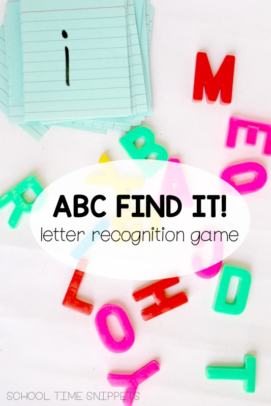 preschool letter recognition game