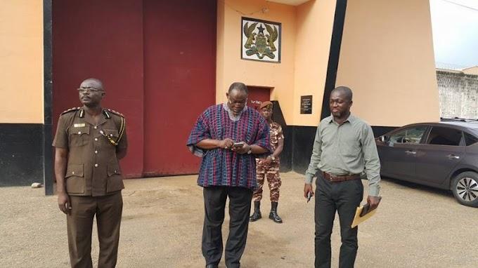 Spio-Garbrah visits 'Montie 3' at Nsawam Prisons
