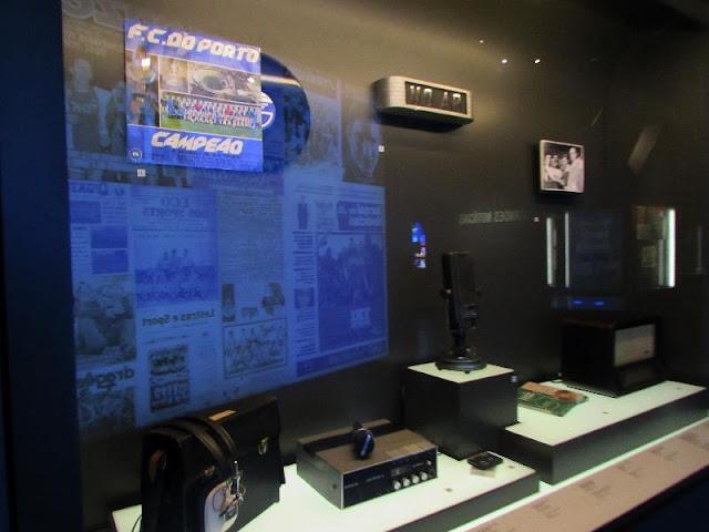 expositor de meios de comunicação do Museu do FC Porto