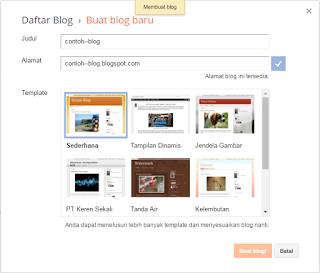 Cara membuat Blog sendiri gratis di blogger