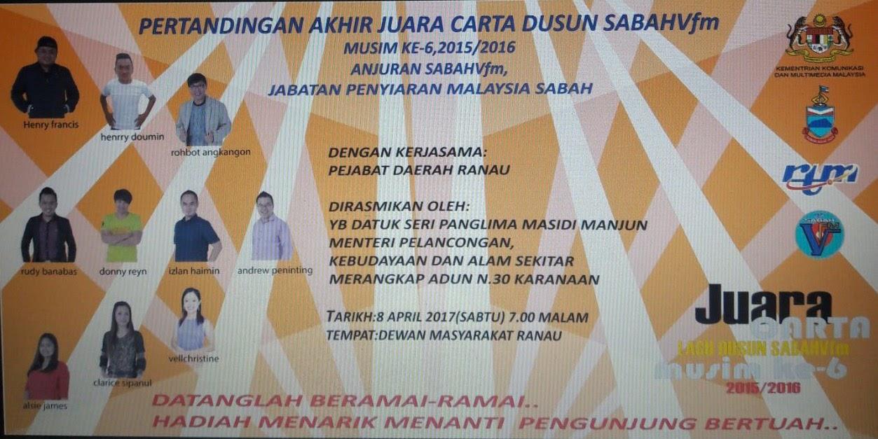 Pertandingan Akhir Juara Carta Lagu Dusun Musim Ke-6 2015/2016