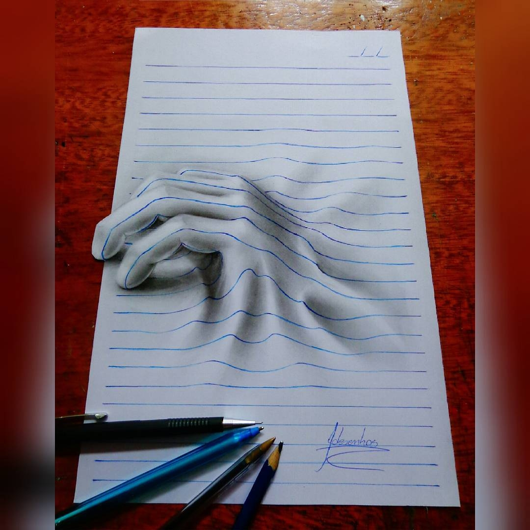 12-The-Hand-João-A-Carvalho-Drawing-and-Painting-3D-Optical-Illusions-see-the-Video-www-designstack-co