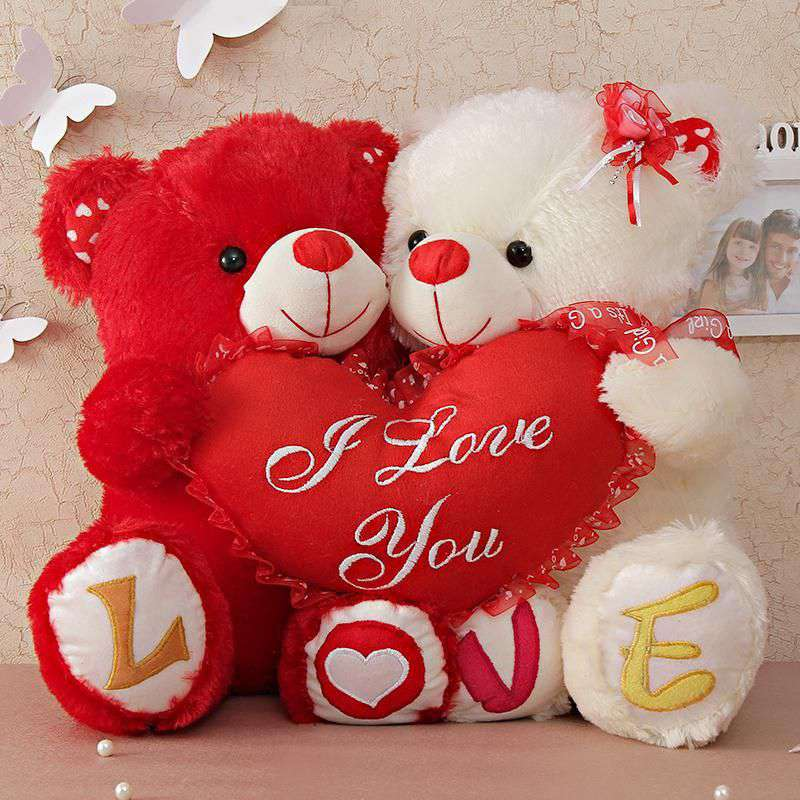 I Love You Teddy Bear Couple Image for Whatsapp & Facebook
