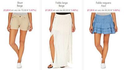 Faldas y shorts de Lois