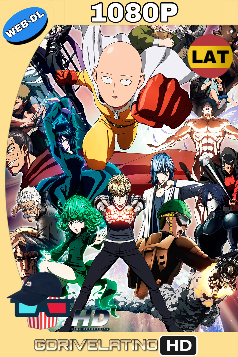 One Punch Man (2015) Temporada 1 (12/12) WEB-DL 1080p (Latino – Japonés) MKV