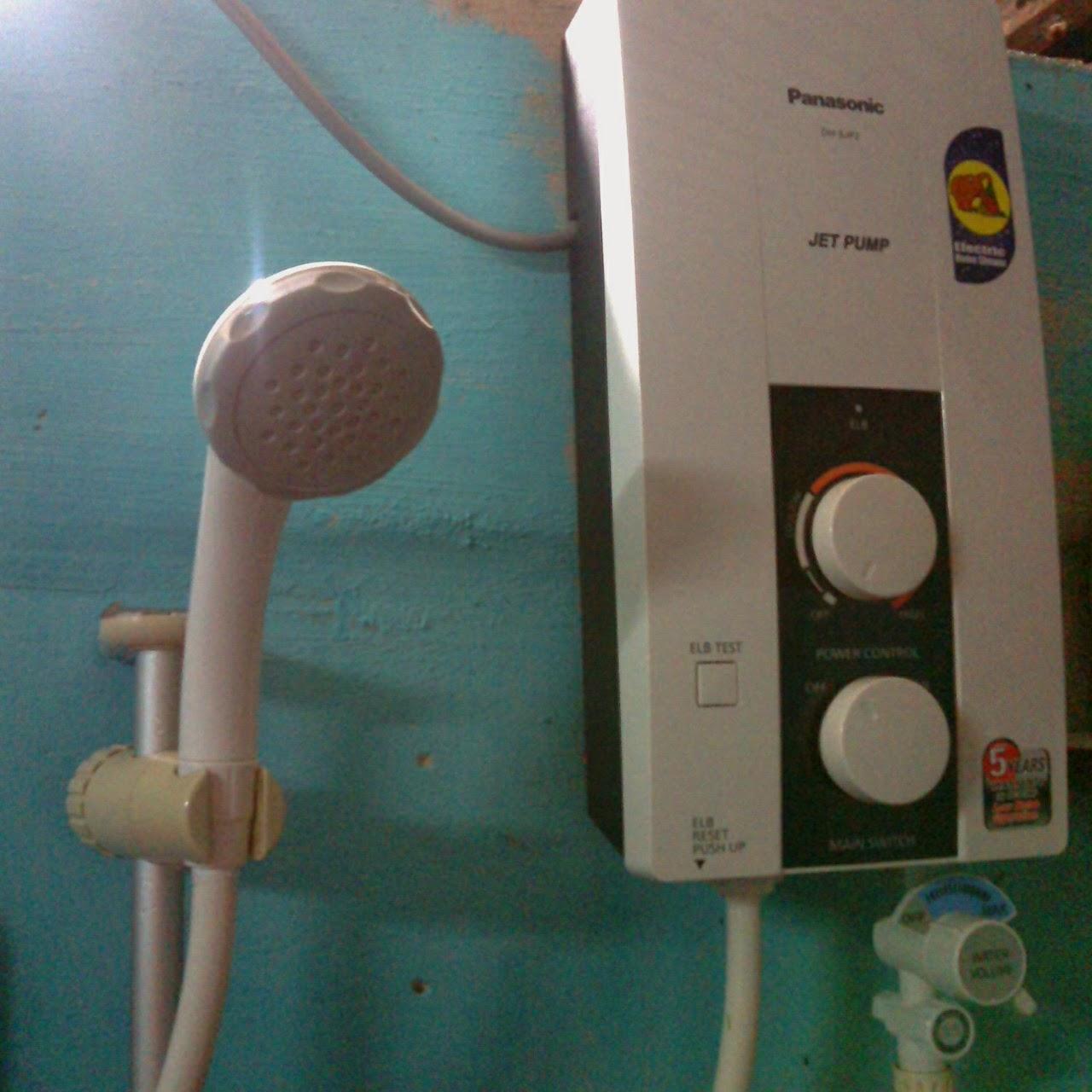 progress tukar water heater baru yang lama dah seusia ngan iqa pergghhh
