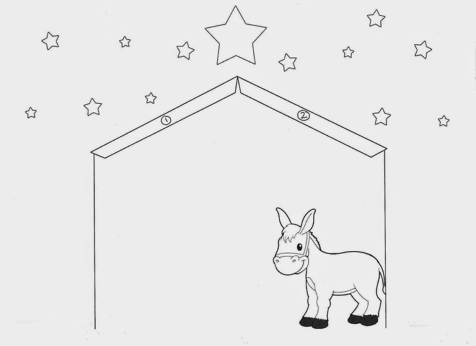 Baú Da Web: Presépio De Natal De Papel Colorir Recortar E