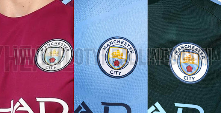 All three new Manchester City jerseys are made by Nike and feature Etihad  Airways as sponsor 8f3782ea8f42