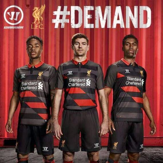 Liverpool's new 3rd Shirt 2014-2015 Warrior Football