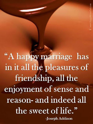 Quotes About Happy Marriage life: a happy marriage has in it all the pleasures of in it all the pleasures of friendship, all the enjoyment of sense and reason-and indeed all the sweet of life