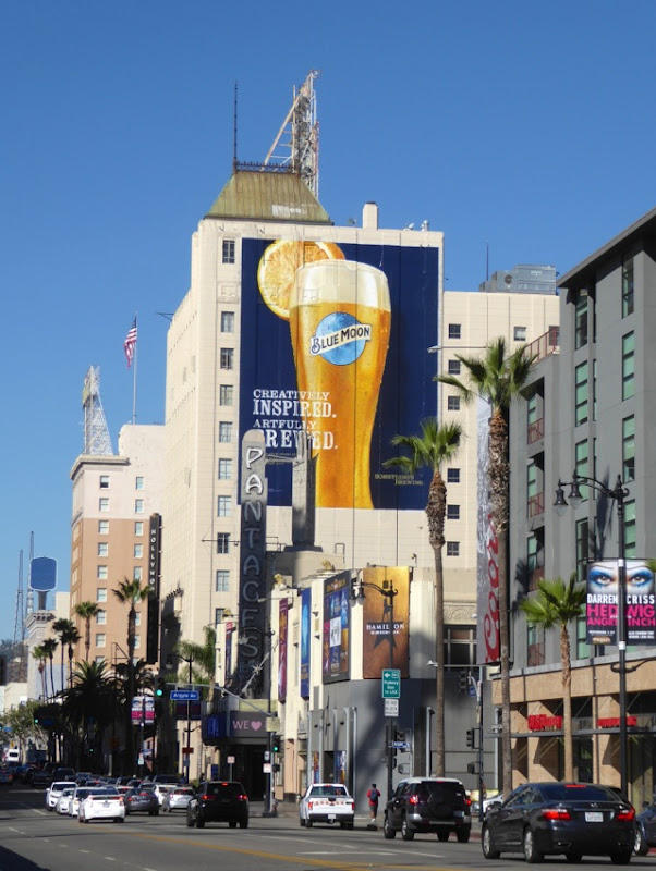 Giant Blue Moon billboard Hollywood