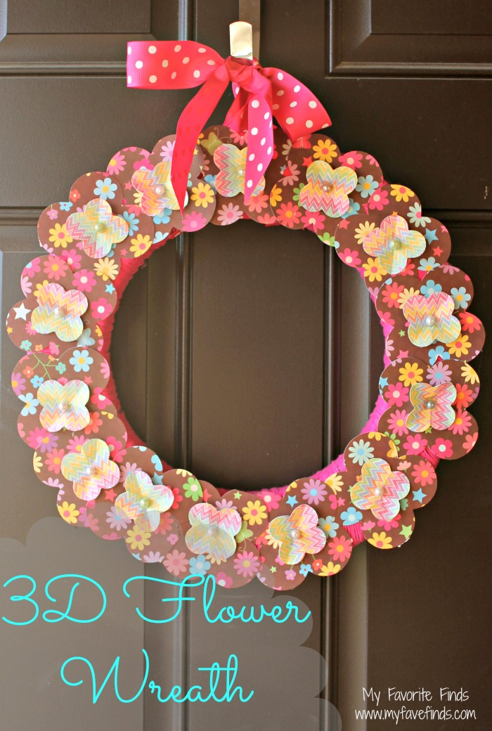 3D Flower Wreath