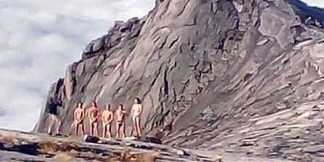 Krivi za potres jer su se skinuli goli i urinirali na svetoj planini.