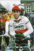 Le coureur cycliste Patrick Bonnet, 1986