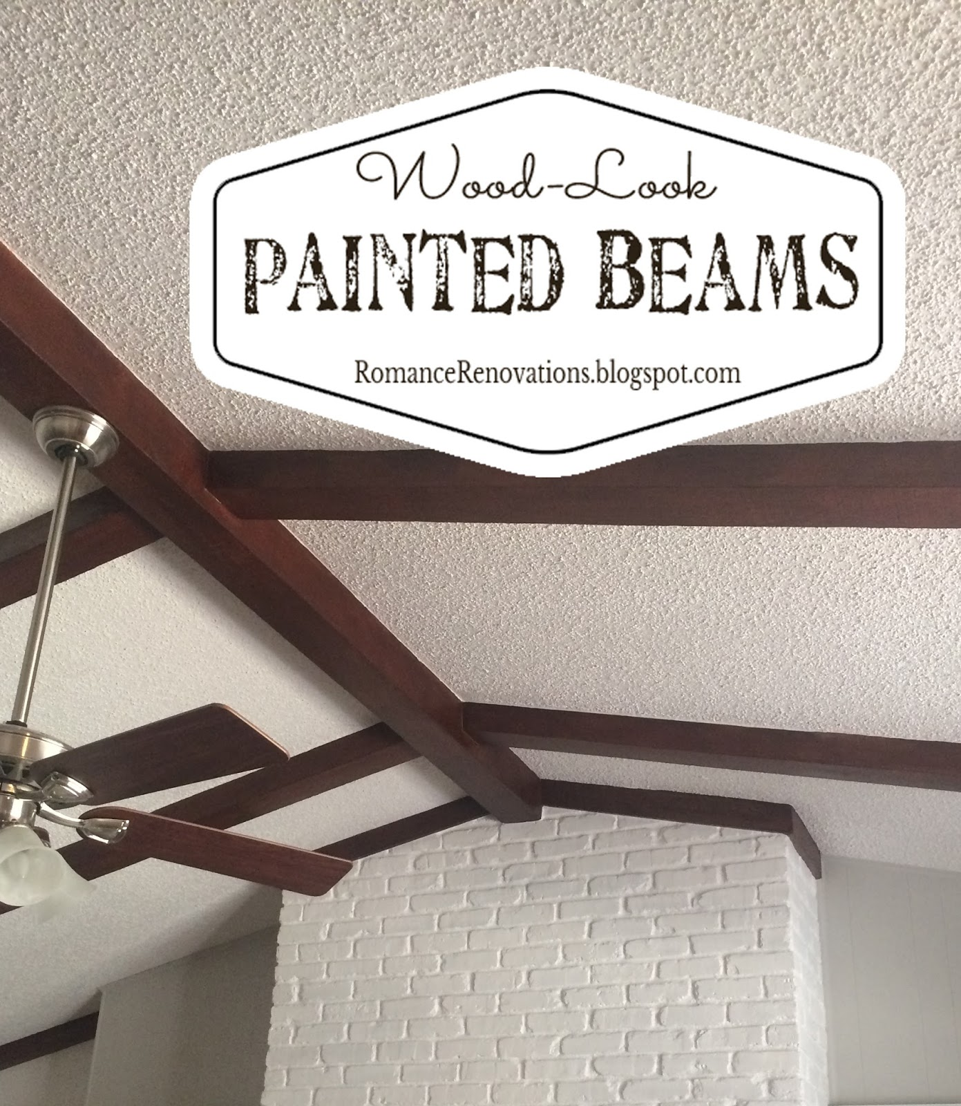Romance Renovations Painting Ceiling Beams To Look Like