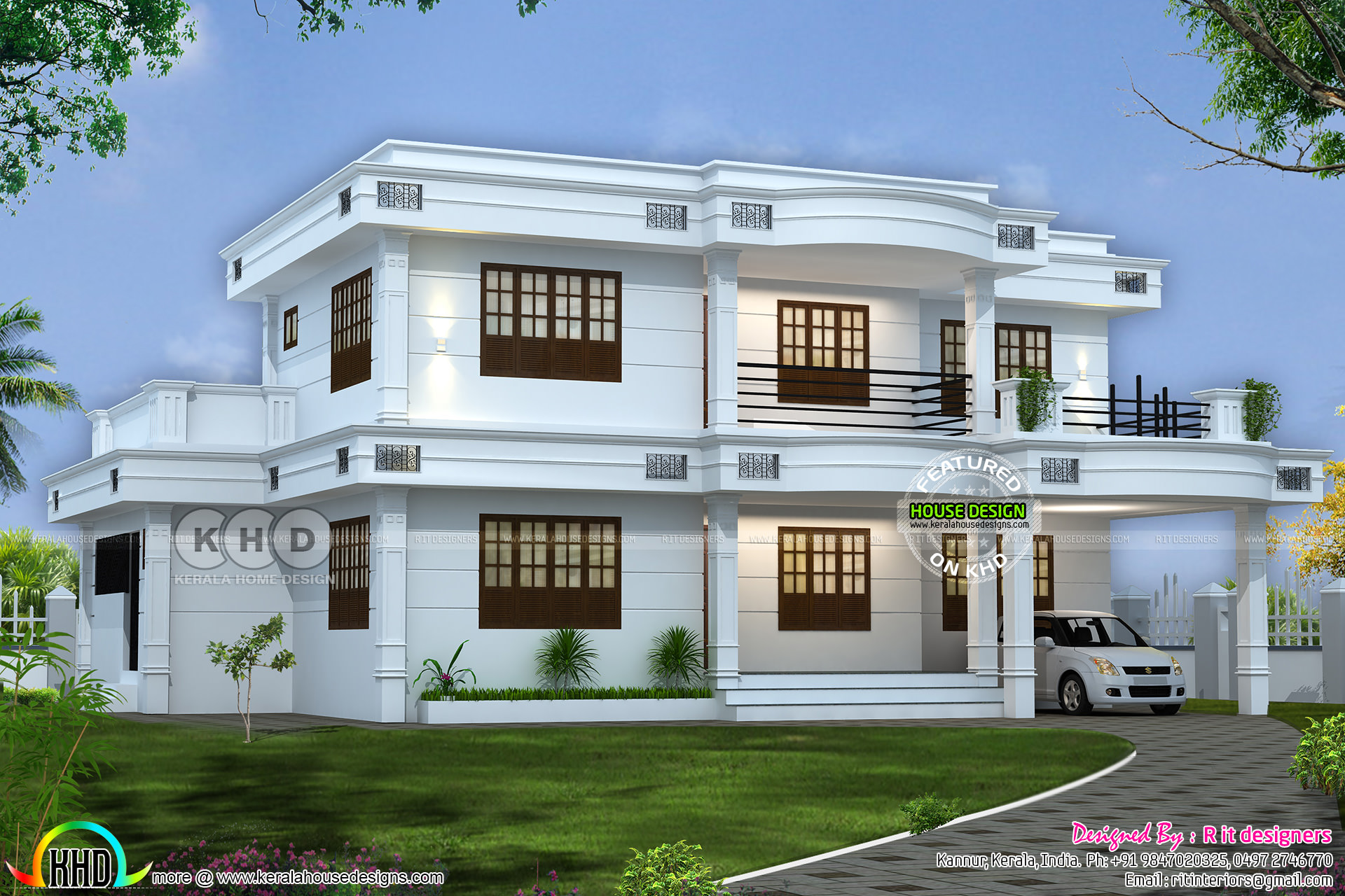Pin By Joseph C D On Noah Builders Flat Roof House Designs Simple House Design New Home Designs