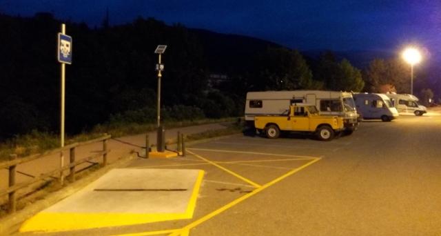Pernocta a l'àrea d'autocaravanes de Ripoll