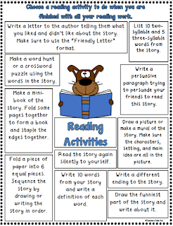Reading Activities for early finishers