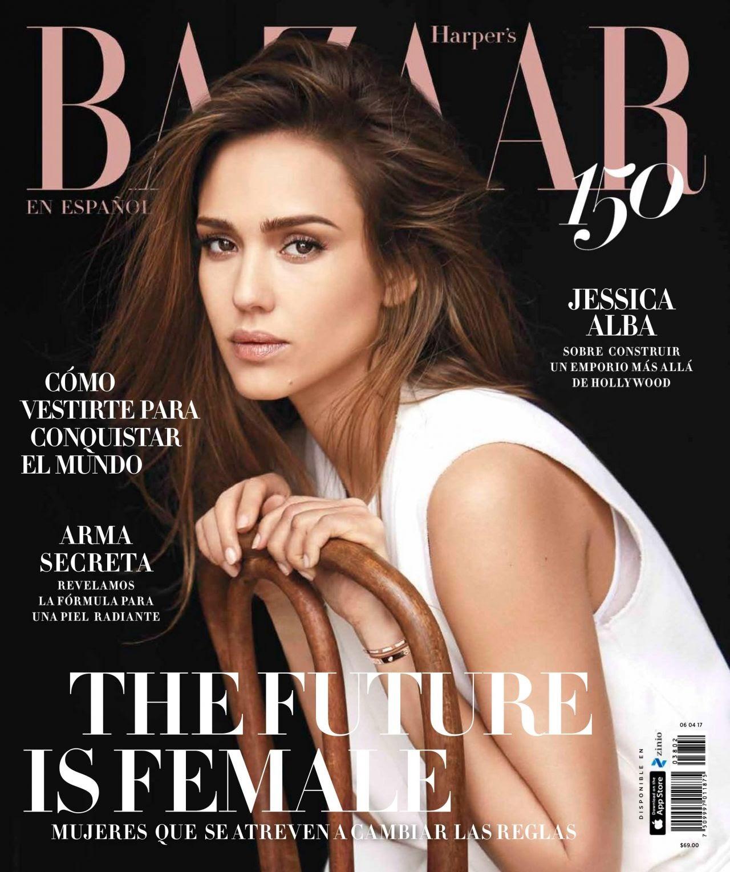 Jessica Alba appeared in the Mexican version of Harper's Bazaar
